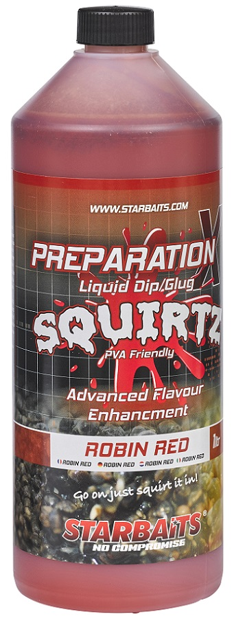 Starbaits Booster PREP X SQUIRTZ ROBIN RED 1L